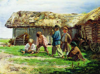 Маковский Владимир Егорович (1846-1920) «Игра вбабки»
