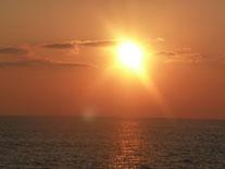 Foto Heidrun Langer - Sonnenuntergang im Mittelmeer