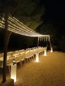 guirlande LED décorative blanche à louer