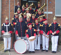 Bis zu 30 Auftritte im Jahr absolvierten die Musiker aus Werben. Hier sehen wir die Blaskapelle in der Preußenuniform, welche zu den passenden Auftritten getragen wird.