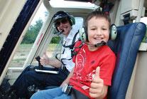 Helikopterflug Kinder