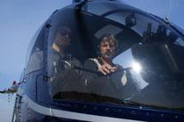 Robinson R22 im Flug
