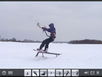 Snowkiten in Rostock/ Slidersession