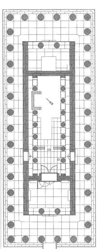 GR - Delphes : Plan du temple d'Apollon (E. Hansen) - Grèce