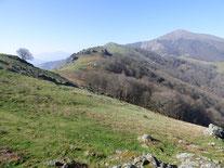 Altxanga depuis Ascain, par Miramar
