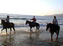 Randonnée à cheval sur la plage