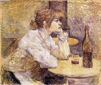 HENRI DE TOULOUSE-LAUTREC -Suzanne Valadon  1888