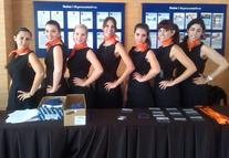 Azafatas de congresos de A10 en convención anual de Gas Natural celebrada en Huelva