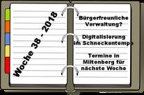 Wochenrückblick KW 38-2018