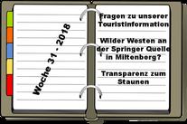 Wochenrückblick KW 31-2018