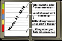 Wochenrückblick KW 37-2018