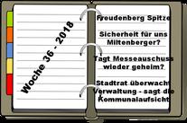 Wochenrückblick KW 36-2018