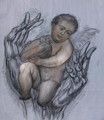 Большое сердце маленьким: программный символб художник Янис Салпинкиди