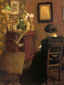 「読書をする女」(1894年)