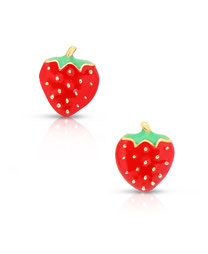 earrings, jewelry, kids, child, gifts, rehoboth, baby, boutique, store, shop, lewes, leverback, stud, post, lever back, training, strawberry, gold