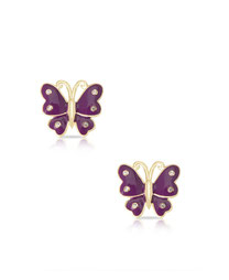 earrings, jewelry, kids, child, gifts, rehoboth, baby, boutique, store, shop, lewes, butterfly, butterflies, purple, sparkle, diamond