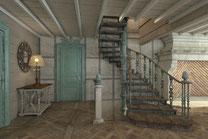 Дом Хонка. Лестница гостиной.