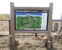 剣山登山道案内看板