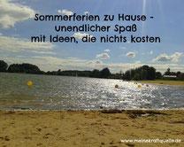 Sommeferien daheim, Sommerferien für wenig Geld, Ferien Unternehmungen für die Familie