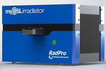 Sr90 irradiator for OSL dosimeter