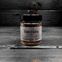 Chili Fäden von der Genuss Hütte im Gewürz-Glas
