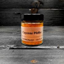 Cayenne Pfeffer von der Genuss Hütte im Gewürz Glas