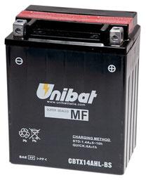 Unibat wartungsfreie AGM Batterie