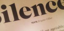 texte sur le silence dans Air France Magazine