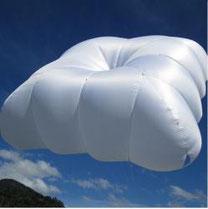 Parachute de secours carré pour biplace parapente