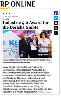 Industrie 4.0 Award für die Derichs GmbH