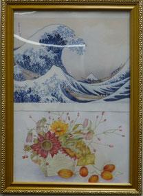 塗り絵  色紙 8期 大熊郁子