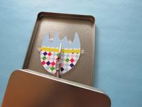 Geschenkbox Ostern mit Funktion, Osterei stellt sich beim Öffnen der Box mit Geldgeschenke auf
