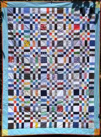 Decke Patchwork von Evelyn Binder: Muster Big Brother.