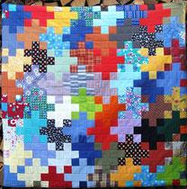 Patchwork Decke von Evelyn Binder.