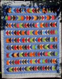 Flying geese. Patchwork-Decke von Evelyn Binder.