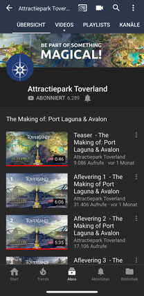 Toverland auf YouTube