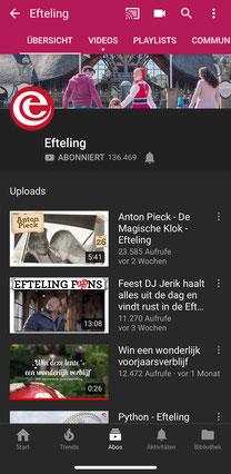 Efteling auf YouTube