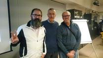 Die Wahlhelfer Roland Schöpf, Josef Eppacher und Karl Weifner