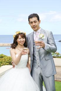 ブライダルエステをされたお客様、ハワイでご結婚式をされました