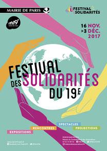 Affiche festival des solidarités du 19ème, Paris, 2017 Léo Derivot Photographe