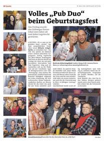 Pub DUO, Murtaler Zeitung, Party, 2t Geist, Bericht