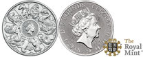 the queens beasts, queen's beast's, completer coin, 2021, silber, silver, unze, the royal mint, silber kaufen,