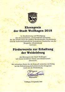 Ehrenpreis der Stadt Wolfhagen 2018
