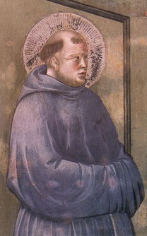 San Antonio de Pádua - detalle  de Giotto - 1297-1300 - Fresco, San Francesco, Asís.