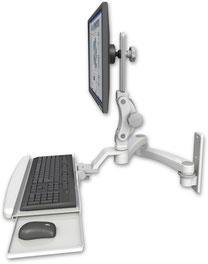 ウォールマウント 壁面固定ワークステーションアーム ディスプレイキーボード用 VESA:ASUL550-W3-KUB-A2