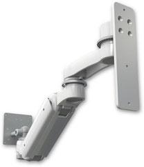 ウォールマウント 昇降式 壁取付用モニターアーム 6インチ(約15.2cm)延長アーム付  :ASUL180IEV6-W3-AS1