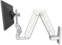 ASELP5216-WT : ガススプリング内蔵 昇降式  壁面固定ロングアーム   ディスプレイ用
