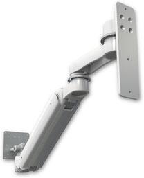ウォールマウント 昇降式 壁取付用モニターアーム (6インチ(約15.2cm)延長アーム付) :ASUL182IEV6-W3-AS1