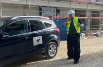 Baustellenbewachung mit unserem Wachschutz