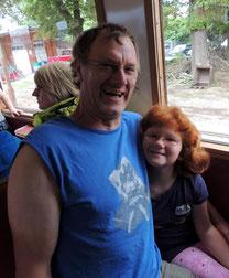 Auch Olaf und seine Tochter Lea aus Klinze gingen auf Tour.